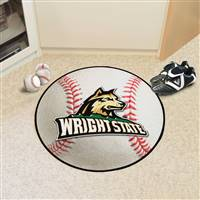 "Wright State Raiders Baseball Rug 29"" Diameter"