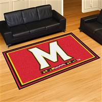 "University of Maryland 5x8 Rug 59.5""x88"""