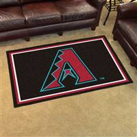 "Arizona Diamondbacks 4x6 Area Rug 46""x72"""