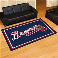 "Atlanta Braves 5x8 Area Rug 60""x92"""