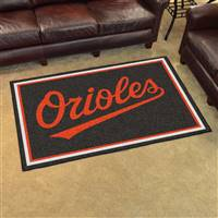 "Baltimore Orioles 4x6 Area Rug 46""x72"""