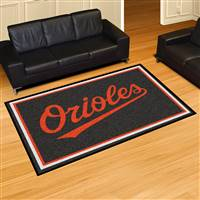 "Baltimore Orioles 5x8 Area Rug 60""x92"""