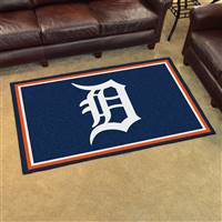 "Detroit Tigers 4x6 Area Rug 46""x72"""