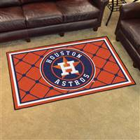 "Houston Astros 4x6 Area Rug 46""x72"""