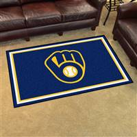 "Milwaukee Brewers 4x6 Area Rug 46""x72"""