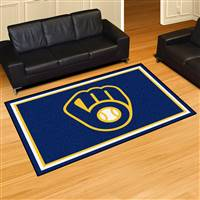 "Milwaukee Brewers 5x8 Area Rug 60""x92"""