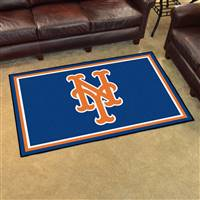 "New York Mets 4x6 Area Rug 46""x72"""