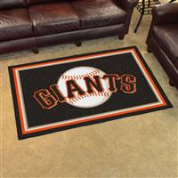"San Francisco Giants 4x6 Area Rug 46""x72"""