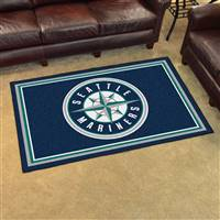 "Seattle Mariners 4x6 Area Rug 46""x72"""