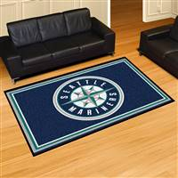 "Seattle Mariners 5x8 Area Rug 60""x92"""