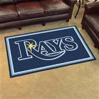 "Tampa Bay Rays 4x6 Area Rug 46""x72"""