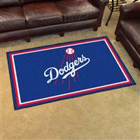 "Los Angeles Dodgers 4x6 Area Rug 46""x72"""