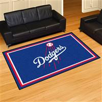 "Los Angeles Dodgers 5x8 Area Rug 60""x92"""