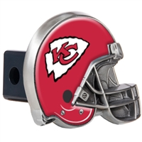 Kansas City Chiefs Metal Helmet Trailer Hitch Cover
