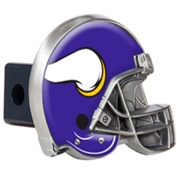 Minnesota Vikings Metal Helmet Trailer Hitch Cover
