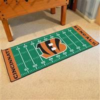 "NFL - Cincinnati Bengals Football Field Runner 30""x72"""