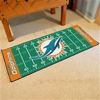 "Miami Dolphins Runner Mat 30""x72"""