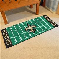 "New Orleans Saints Runner Mat 30""x72"""