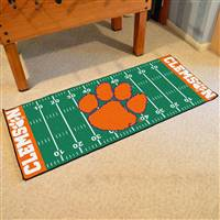 "Clemson Tigers Football Field Runner Mat 30""x72"""