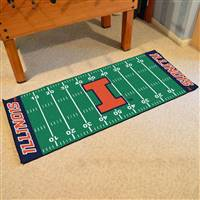 "Illinois Fighting Illini Football Field Runner Mat 30""x72"""
