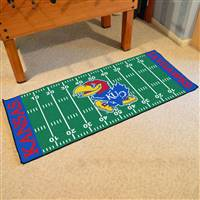 "Kansas Jayhawks Football Field Runner Mat 30""x72"""