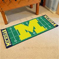 "Michigan Wolverines Football Field Runner Mat 30""x72"""
