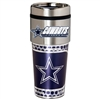 Dallas Cowboys Stainless Steel Travel Tumbler Metallic Graphics 16 Oz.
