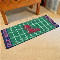 "Ole Miss Rebels Football Field Runner Mat 30""x72"""
