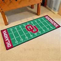 "Oklahoma Sooners Football Field Runner Mat 30""x72"""