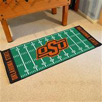 "Oklahoma State Cowboys Football Field Runner Mat 30""x72"""