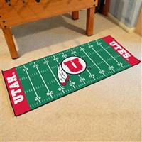 "Utah Utes Football Field Runner Mat 30""x72"""