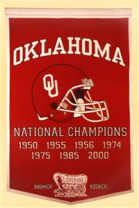 Oklahoma Sooners Large Dynasty Wool Banner