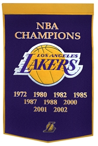 Los Angeles Lakers Large Dynasty Wool Banner