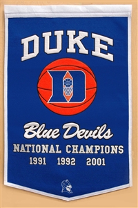 Duke Blue Devils Large Dynasty Wool Banner