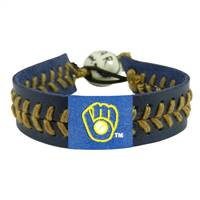 Milwaukee Brewers Bracelet Team Color Baseball