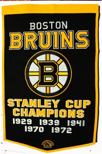 Boston Bruins Large Dynasty Wool Banner