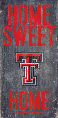 Texas Tech Red Raiders Wood Sign - Home Sweet Home 6x12