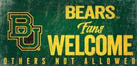 Baylor Bears Wood Sign Fans Welcome 12x6 - Special Order