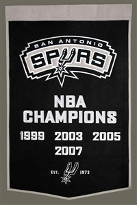 San Antonio Spurs Large Dynasty Wool Banner