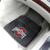 "Ohio State Buckeyes Heavy Duty 2-Piece Vinyl Car Mats 18""x27"""