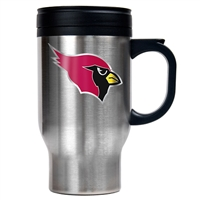 Arizona Cardinals 16oz Stainless Steel Travel Mug - Primary Logo