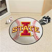 "Iowa State Cyclones Baseball Rug 29"" Diameter"