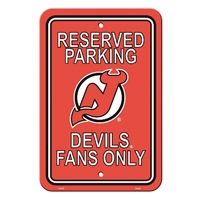 New Jersey Devils Plastic Parking Sign