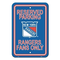 New York Rangers Plastic Parking Sign
