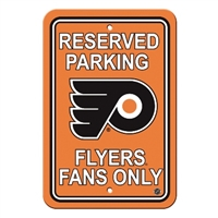 Philadelphia Flyers Plastic Parking Sign