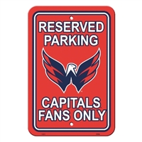 Washington Capitals Plastic Parking Sign