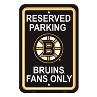 Boston Bruins Plastic Parking Sign