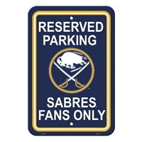 Buffalo Sabres Plastic Parking Sign