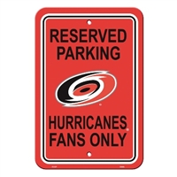Carolina Hurricanes Plastic Parking Sign