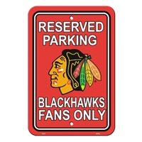 Chicago Blackhawks Plastic Parking Sign